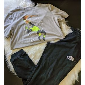 Boys Size Large Nike Under Armour Outfit